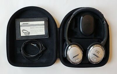 Bose Quietcomfort 3 QC3 Acoustic Noise Cancelling On Ear Headphones Working