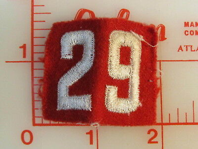 Vintage felt one piece number 29 collectible patch (oD)
