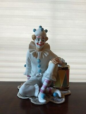 """ROYAL DOULTON figurine """"BETWEEN ACTS"""" CARNIVAL OF CLOWNS Limited Edition Statue"""