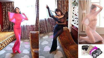 Stretchable Sheer Mesh Bodystocking Stocking Restraint Body Catsuit UK 6-16