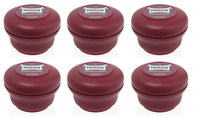 Proraso Shaving Soap in a Bowl, Moisturizing and Nourishing, 5.2 oz (6 Pack)