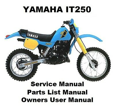 YAMAHA IT250 Owners Workshop Service Repair Parts List Manual PDF on CD-R IT 250
