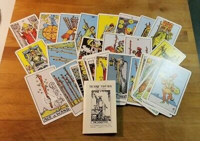 THE RIDER TAROT DECK 1971 instruction book plus cards