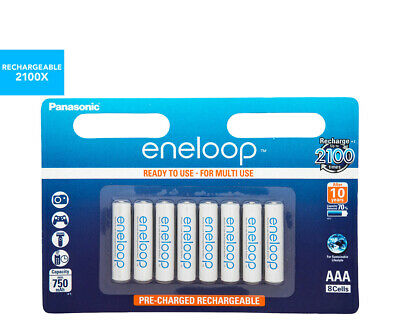 Panasonic Eneloop Rechargeable AAA Batteries 8-Pack