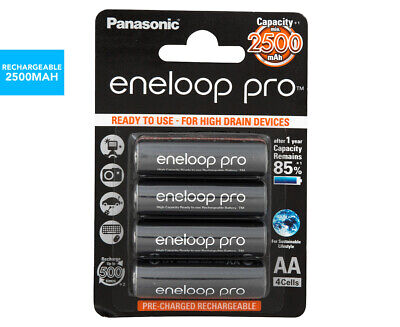 Panasonic Eneloop Pro Rechargeable AA Batteries 4-Pack