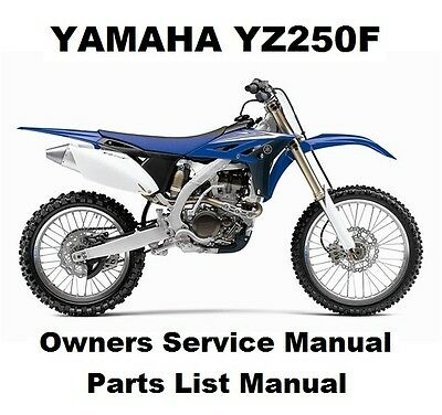YAMAHA YZ250F Owners Workshop Service Repair Parts List Manual PDF on CD-R YZ250