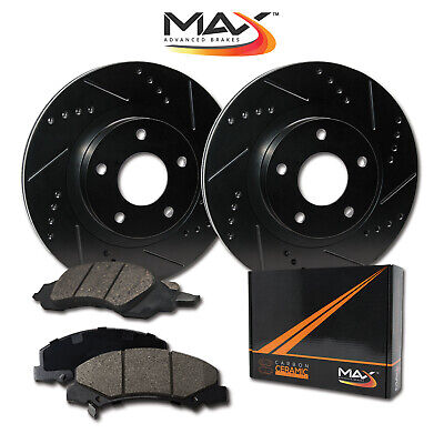 [Rear] Rotors w/Ceramic Pads Elite Brakes (02 - 17 Ram 1500 04 - 09 Durango)