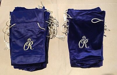 "CROWN ROYAL Special Reserve Purple Velvet Drawstring Bags 10""x6"" !!"