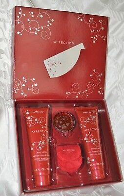 New Mary Kay AFFECTION Gift Set Shower Gel Lotion Solid Perfume New