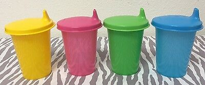 Tupperware Kids Bell Tumblers with Sippy Seals 7 oz New Set of 4