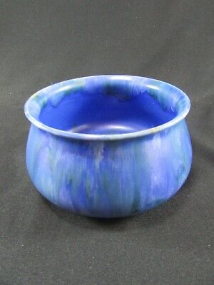 Clews & Co. Chameleon Treacle Blue Bowl c.1940s