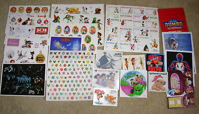 Disney Movie Club Lot Stickers Sheets Tattoos & more collectors RARE Exclusive