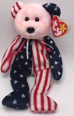 Ty Beanie Babies Spangle The Bear 1999 Pink Face
