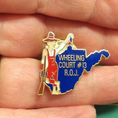 ROYAL ORDER OF JESTERS lapel pin - Mason Shriner Group - Wheeling Court # 13 ROJ