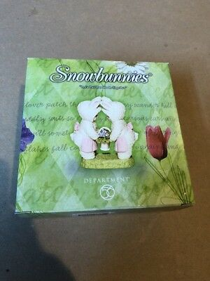 """RARE Dept. 56 Snowbunnies """"Let's Put Our Heads Together"""" - 3.5"""" Figurine 2002"""