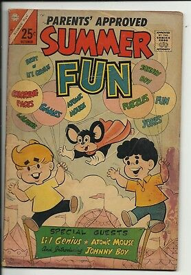 Summer Fun #54 - first & last issue - Charlton comic - Atomic Mouse - GD 2.0