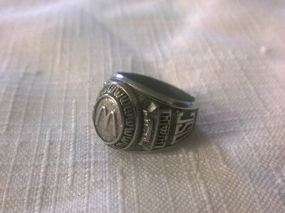 Vintage McDonald's Restaurant Service Award Ring-Stainless Steel-c.1960's
