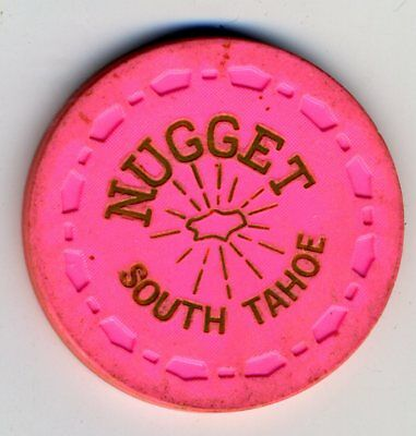 Scarce 1960s 25-cent chip from the South Tahoe Nugget, Lake Tahoe, TCR $75-$99