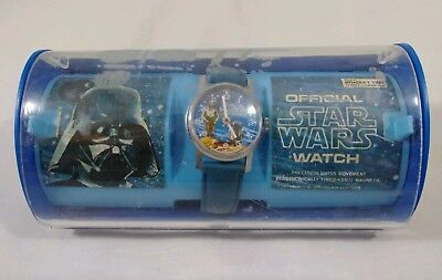 Star Wars Vintage 1977 Official Wrist Watch C3PO R2D2 Bradley Time With Case GUC