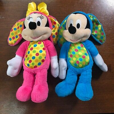 Disney Parks Mickey & Minnie Mouse Easter Bunny Plush