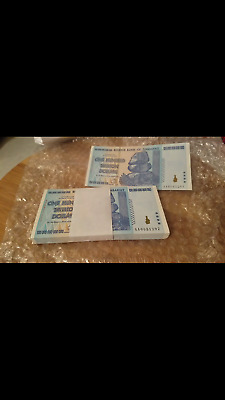 100 one hundred trillion dollar bills 2008 UNC limited quanity
