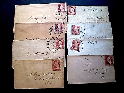 G&b Stamps Us: 1858-60  Sc#26 Lot Of 8 19Th Century Covers-Used