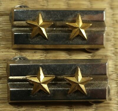 Metal Rank Insignia / First Lieutenant / Japanese Imperial Army / c. 1930s