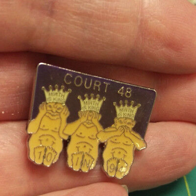 ROYAL ORDER OF JESTERS lapel pin - Mason Shriner Group - 10 in 94 Court 48 Mirth