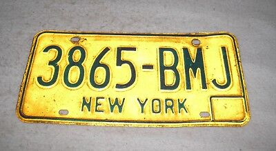 Vintage New York State License Plate 1970's