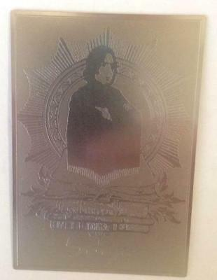 Harry Potter Movie Metal Plate Trading Card of Prof. Severus Snape by Artbox