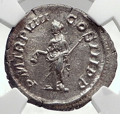 SEVERUS ALEXANDER Authentic Ancient 229AD Silver Roman Coin LIBERTAS NGC i72762