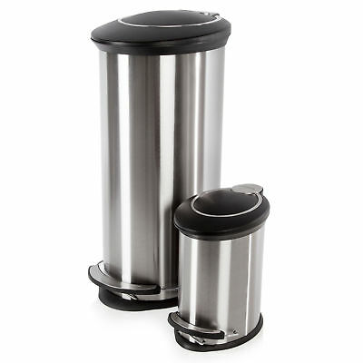 Morphy Richards 977102 Pro 30 Litre and 5 Litre Oval Pedal Bins