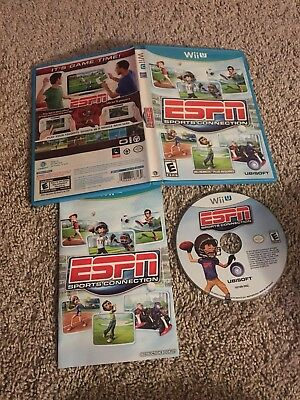 ESPN Sports Connection (Nintendo Wii U, 2012) Complete Tested