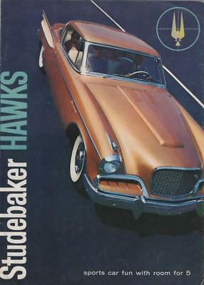 Beautiful Studebaker Hawk 1957 - Golden and Silver Hawks - Dealer Sales Brochure