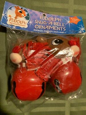 Rudolph The Red Nosed Reindeer Snug-A-Bell Ornament - Christmas Holiday NEW!!!