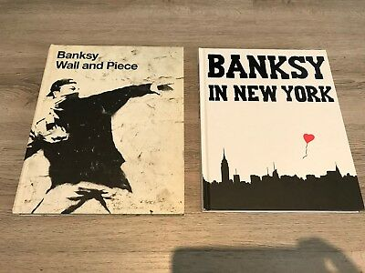 BANKSY Set of 2 Books WALL AND PIECE & IN NEW YORK 2006 and 2014
