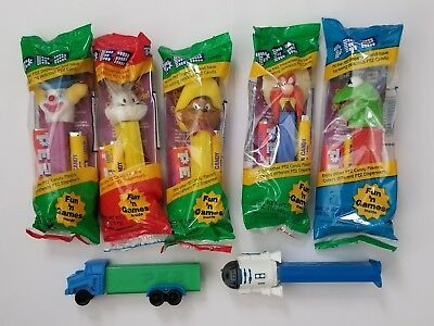 Pez Mixed Lot of 7 Star Wars Looney Tunes Truck  Sealed