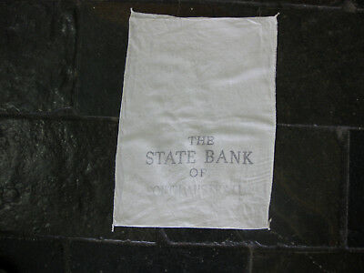 Vintage STATE BANK OF SOUTH AUSTRALIA MONEY BAG Money coins currency Notes