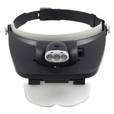 Headband Dental LED Light Head Loupes 4 Magnification Lenses Glasses hygienists