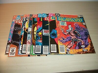 DC Enter The Lost World of the Warlord Comic Book Lot 25 33 34 42 45 49 78