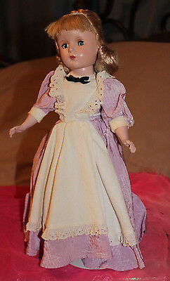 Vintage 1950's Madame Alexander Meg doll Little Women Margaret Face tagged dress