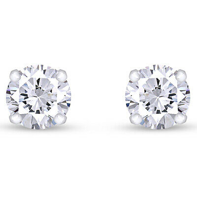 Holiday Sale 0.75 Cttw Natural Diamond Studs Available In 14K White Gold
