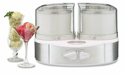 Cuisinart ICE-40WS Flavor Duo Ice Cream Maker Appl Frozen Yogurt Ice (ice40ws)