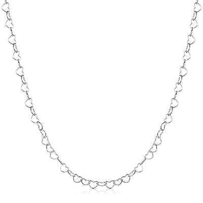 "SEMAID 4.0mm 925 Sterling Silver Necklace Heart Link Chain 16"" 18"" 20"" 22"" INCH"
