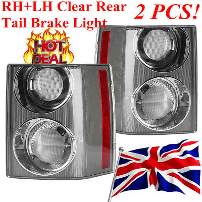 Pair RH+LH Clear Rear Tail Brake Light Lamp For RANGE ROVER VOGUE L322 2002-2009