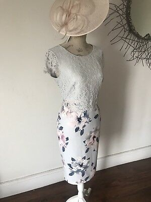 Precis Beautiful Lace And Floral Mother Of The Bride Dress Size 12 Nwt
