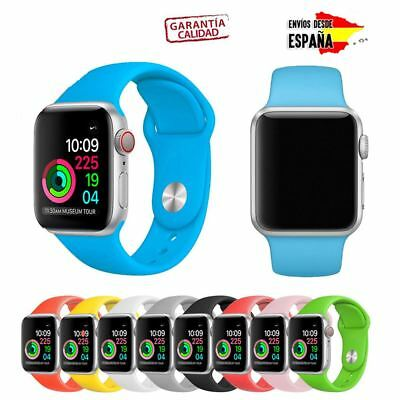 Pulsera Correa Apple Watch Silicona Serie 1, 2, 3 Y 4 Colores Recambio