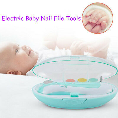 Electric Baby Nail File Tools Safe Trimmer for Newborn Toddler Toes Fingernail H