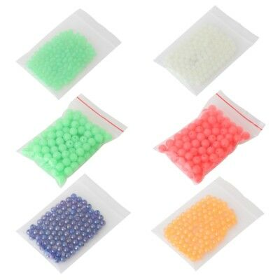 100 Pcs/Bag Fishing Beads Night Luminous Plastic Tackle Float Stoppers Glow Sea
