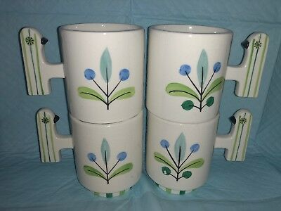 Holt Howard PixieWare Bird Coffee Mugs Set of 4 1960 Mid Century Extremely Rare
